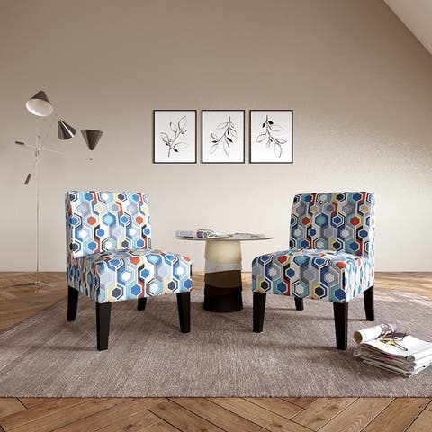 Copper Grove Durbuy Upholstered Armless Chairs (Set of 2)