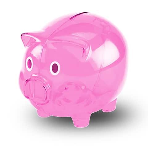 Transparent Cute Piggy Bank, Makes a Perfect Unique Gift, Nursery Decor, Keepsake, or Savings Piggy Bank for Kids