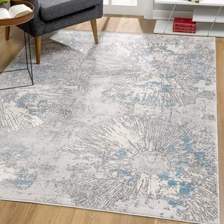 Rug Branch Vogue Modern Abstract Area Rug, Soft Blue