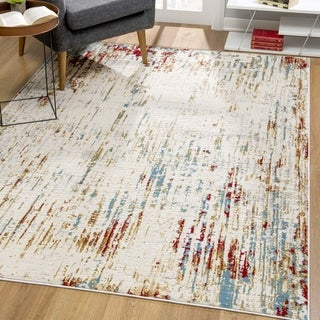 Rug Branch Vogue Modern Area Rug and Runner, Beige Red