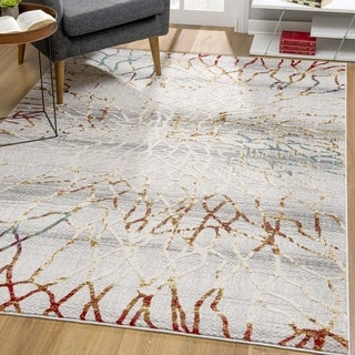 Rug Branch Vogue Modern Abstract Area Rug, Gold Grey