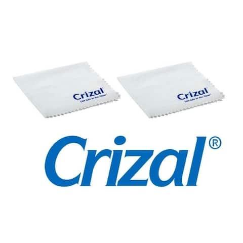 Crizal Lens Cloth - Microfiber, White, 2 pack