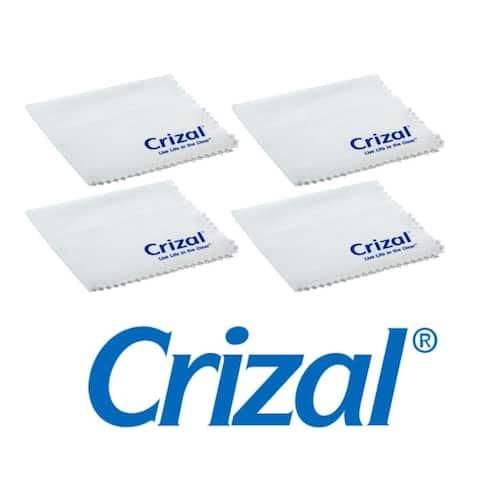 Crizal Lens Cloth - Microfiber, White, 4 pack