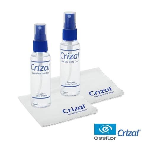 Crizal Lens Cleaner - 2oz Spray w/Crizal cloth, 2 pack