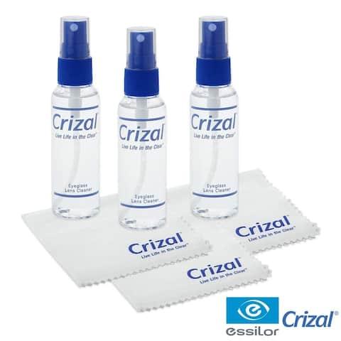 Crizal Lens Cleaner - 2oz Spray w/Crizal cloth, 3 pack