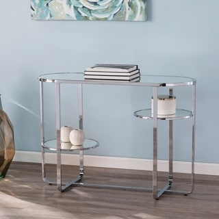 Silver Orchid Mabrick Mirrored Console Table w/ Storage