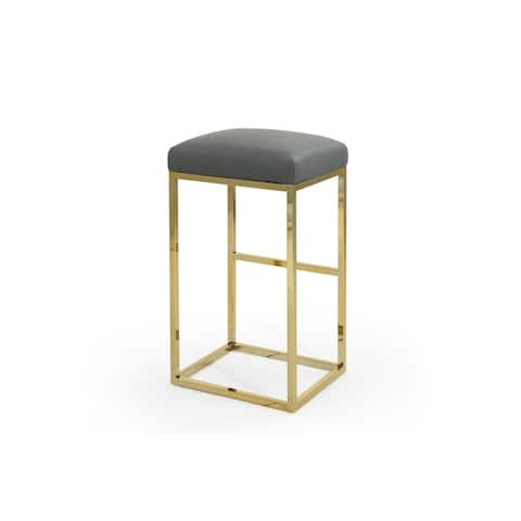 Chic Home Valerie PU Leather Upholstered Bar/Counter Stool - N/A