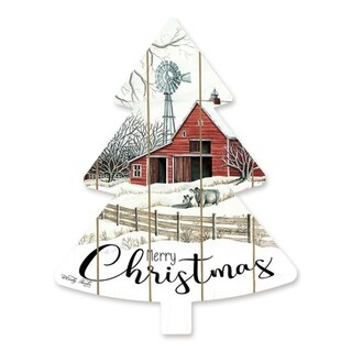 Cut Out Pallet Art - Barn Merry Christmas