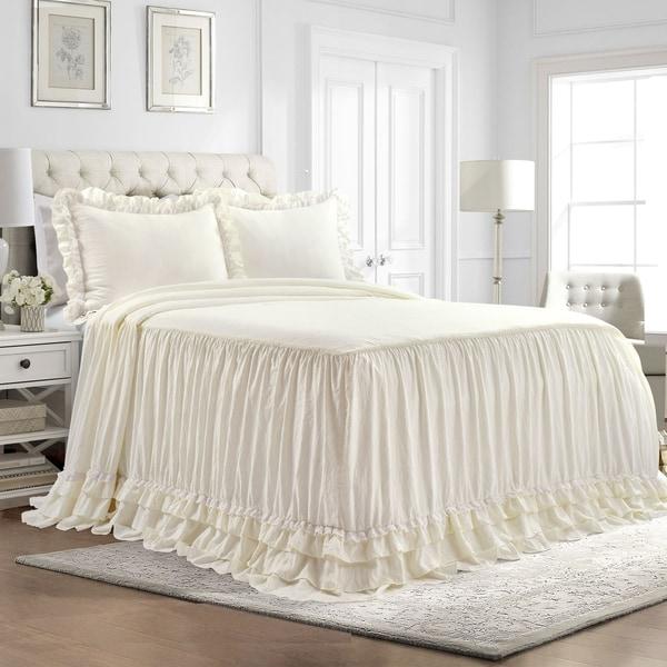 Lush Decor Ella Shabby Chic Ruffle Lace Bedspread Set. Opens flyout.