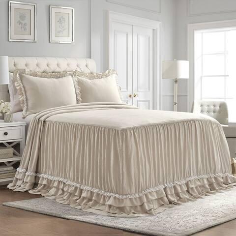 Lush Decor Ella Shabby Chic Ruffle Lace Bedspread Set