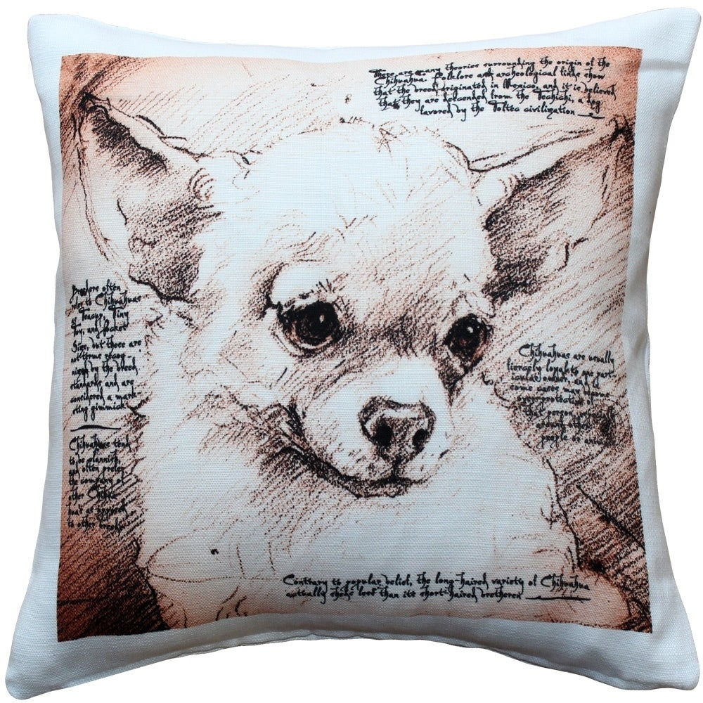 Pillow Decor Chihuahua 17x17 Dog Pillow Overstock 29812847
