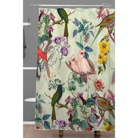 Deny Designs Floral and Birds Shower Curtain