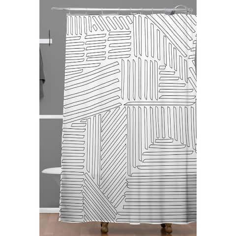 Deny Designs Stripes Outline Shower Curtain