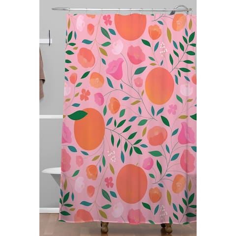 Deny Designs Apricots Shower Curtain