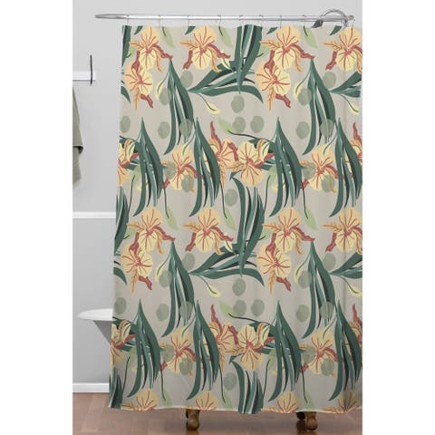 Deny Designs Dots and Florals Shower Curtain