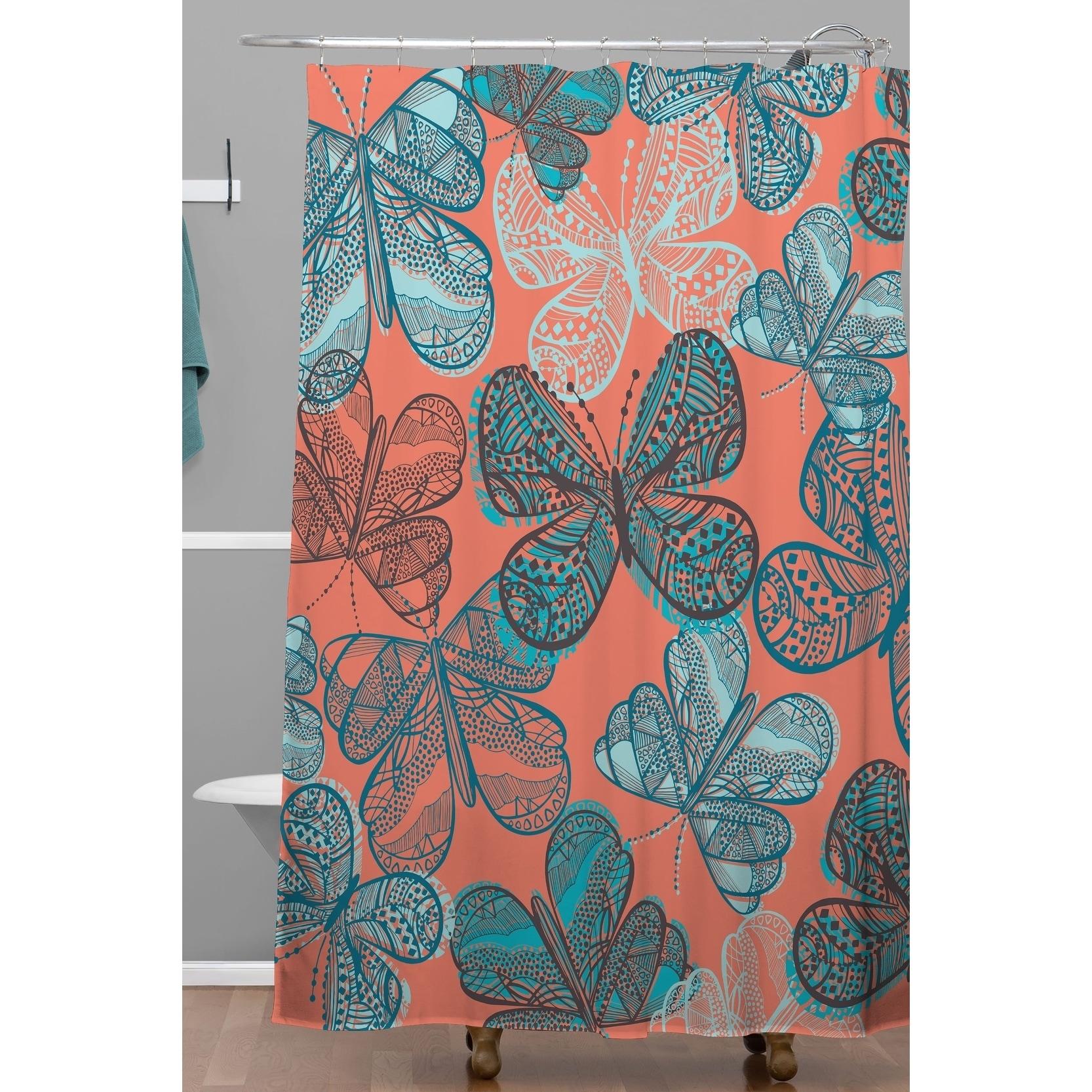 Shop Black Friday Deals On Deny Designs Havana Butterfly Shower Curtain Overstock 29812924