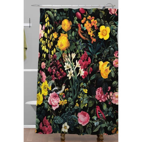 Deny Designs Birds and Floral Shower Curtain