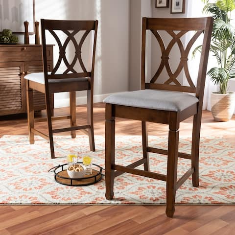Reneau Modern and ContemporaryUpholstered 2-Piece Wood Pub Chair Set