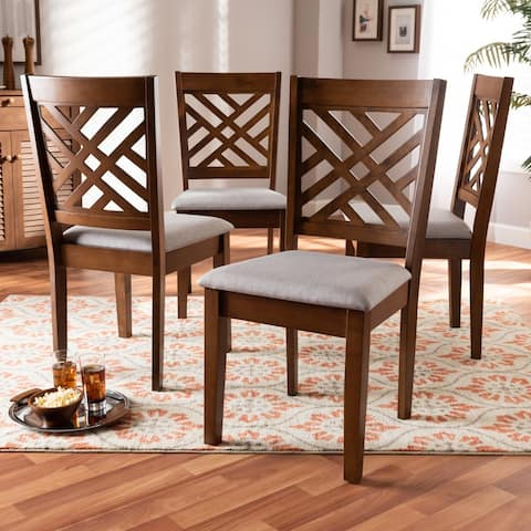 Caron Modern and Contemporary Upholstered 4-Piece Dining Chair Set