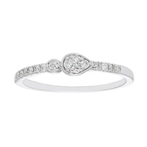 10Karat White Gold 1/6cttw Diamond Ring