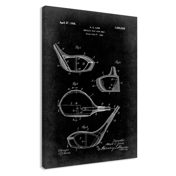 Vintage Golf Club Patent I - 24 x 36 - 24 x 36