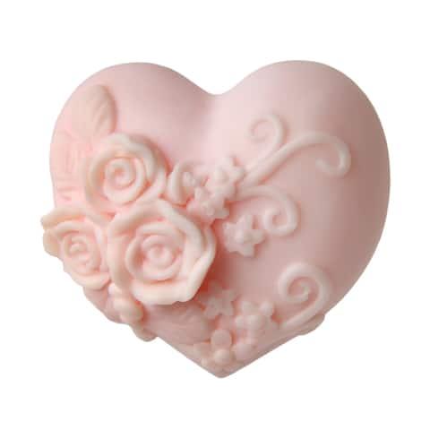 Beehive Soap - Handmade Heart Glycerin Soap - Black Currant Rose