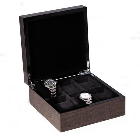 Charles High Lacquered Italian Veneer Grey Watch Box