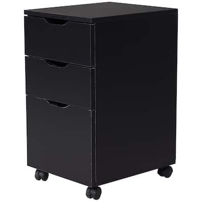 """HomCom 3 Drawer File Cabinet, Rolling Vertical A4 Paper Letter Binder, 14"""" D"""