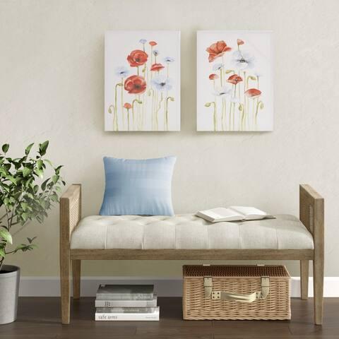 Madison Park Poppy Multi Gel Coated Canvas 2 Piece Set