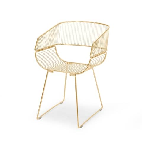 """Lipscomb Modern Glam Iron Dining Chair by Christopher Knight Home - 21.00"""" W x 20.60"""" D x 32.75"""" H"""