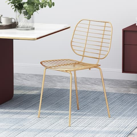 "Loudon Modern Glam Iron Dining Chair by Christopher Knight Home - 20.30"" W x 19.10"" D x 32.25"" H"