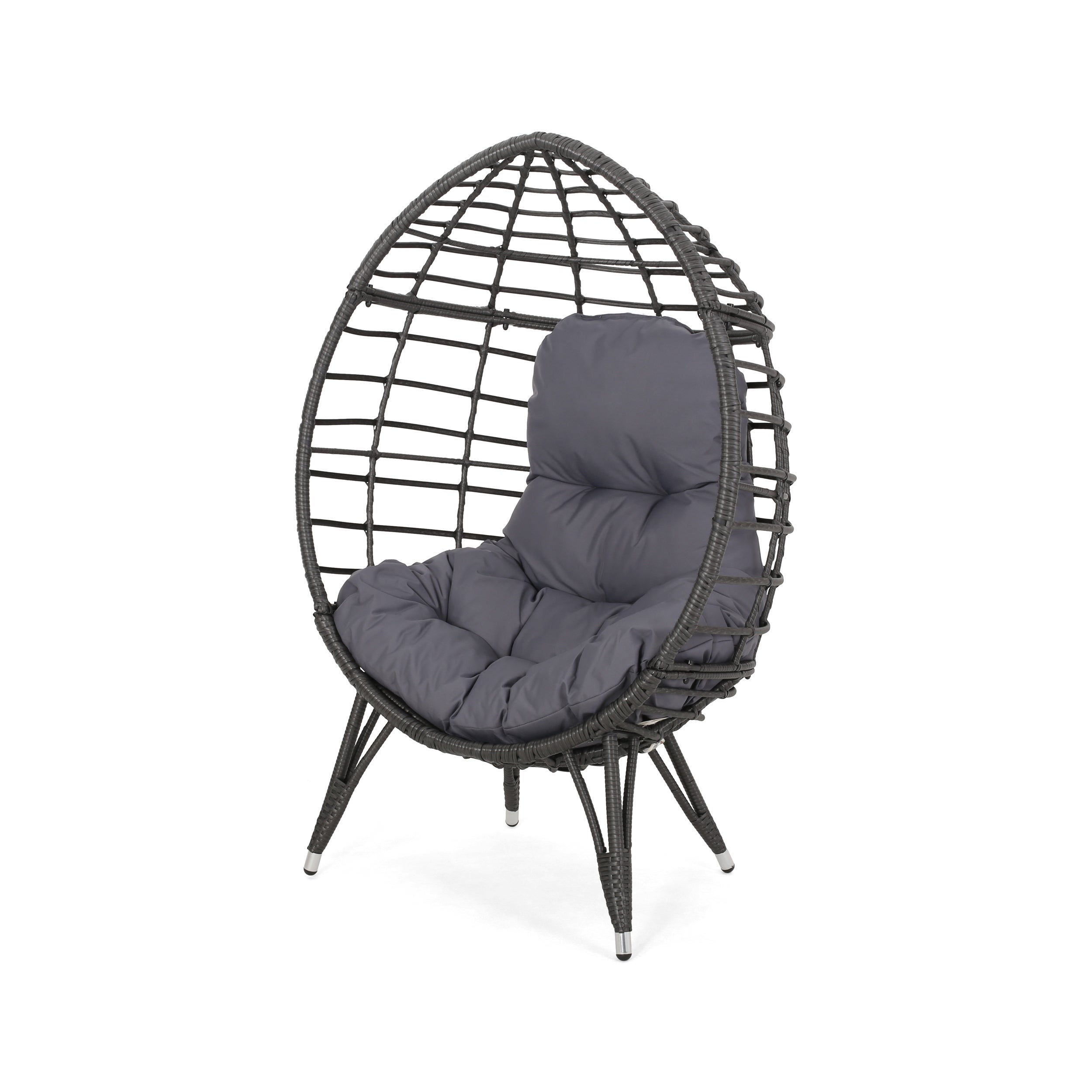 Brilliant Savin Indoor Wicker Teardrop Chair With Cushion By Christopher Knight Home Ocoug Best Dining Table And Chair Ideas Images Ocougorg