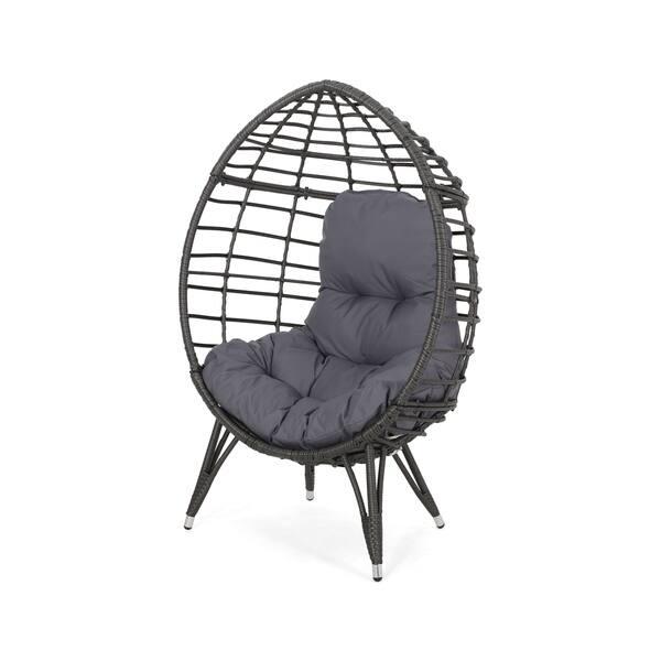 Terrific Shop Savin Indoor Wicker Teardrop Chair With Cushion By Creativecarmelina Interior Chair Design Creativecarmelinacom