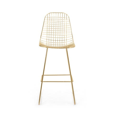 Lenmore Modern Glam Iron Barstool by Christopher Knight Home
