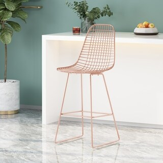Link to Lenmore Modern Glam Iron Barstool by Christopher Knight Home Similar Items in Dining Room & Bar Furniture