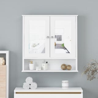 Haswell Modern 2 Door Medicine Cabinet with Mirrors by Christopher Knight Home