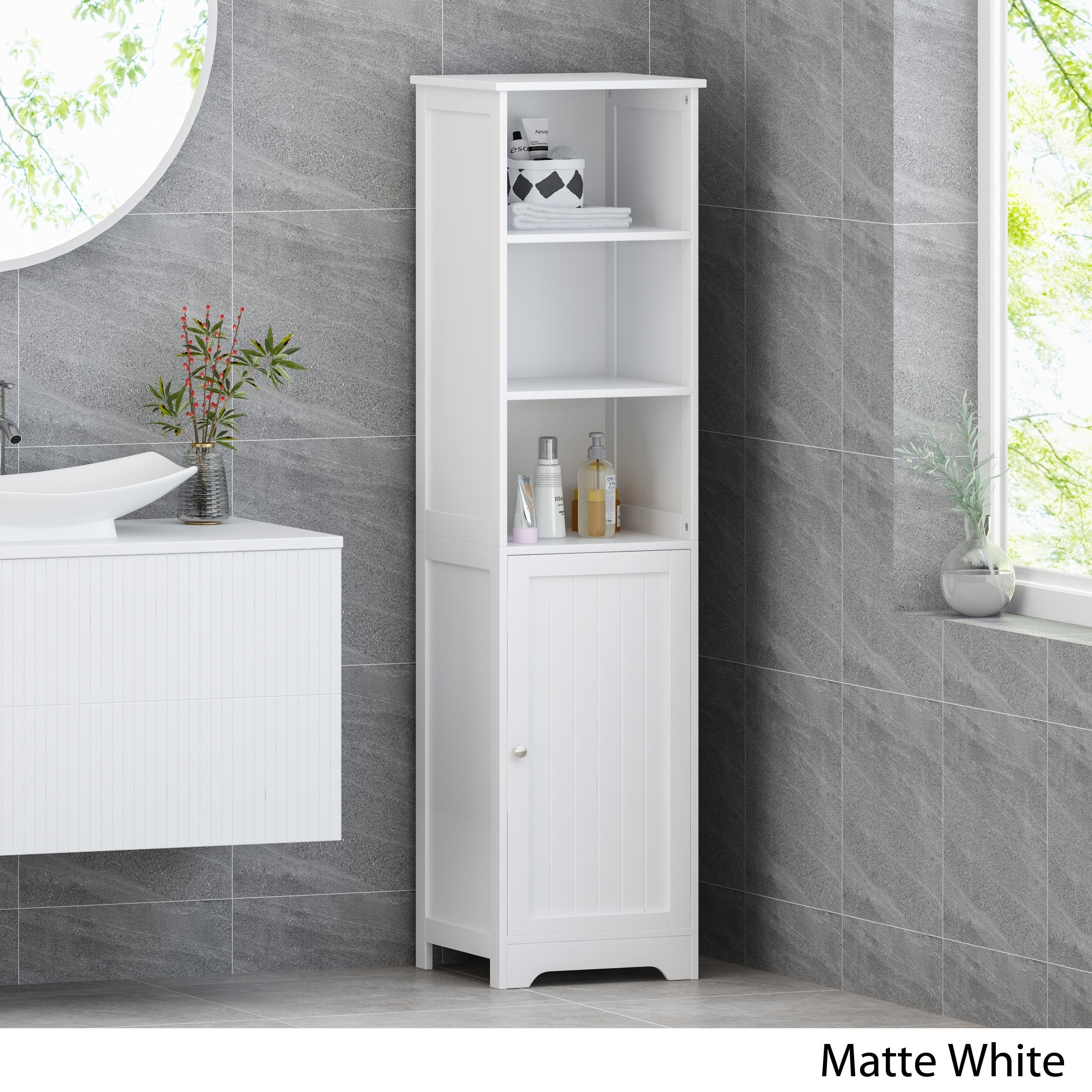 Free Standing Bathroom Linen Tower