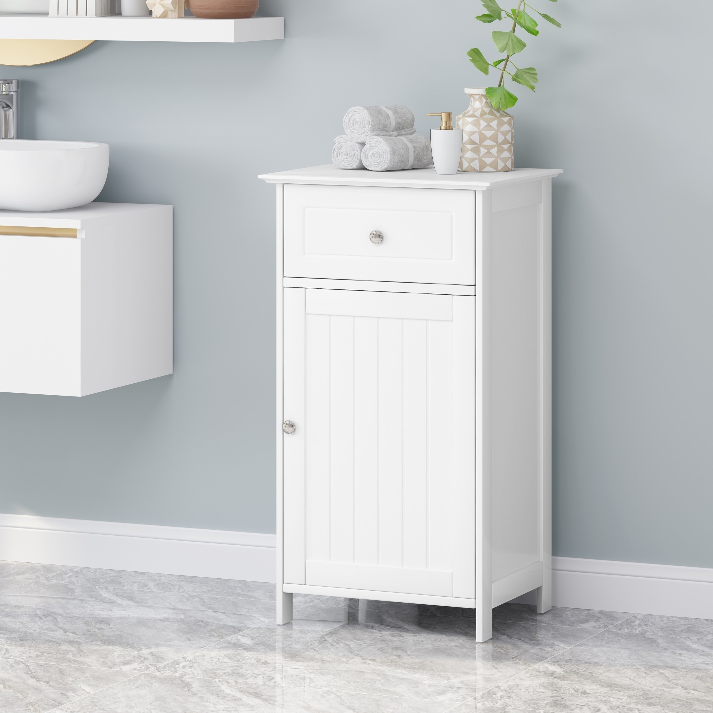 Hoover Modern Bathroom Storage Cabinet By Christopher Knight Home On Sale Overstock 29816870