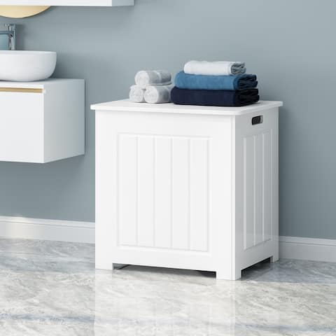 Killarney Modern Laundry Hamper with Lid by Christopher Knight Home