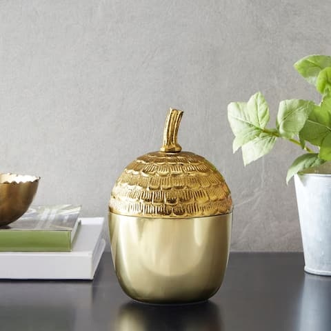 Madison Park Acorn Gold Container