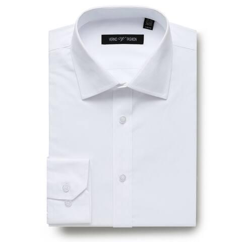 Zenbriele Men's Dress Shirt Slim Fit Long Sleeve Grid Dress Shirts