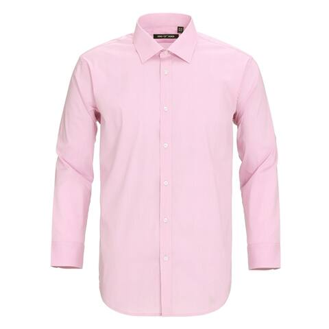 Zenbriele Men's Dress Shirt Slim Fit Stretch Long Sleeve Spead Collar