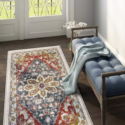 Buy Red Transitional Kitchen Rugs Mats Online At Overstock