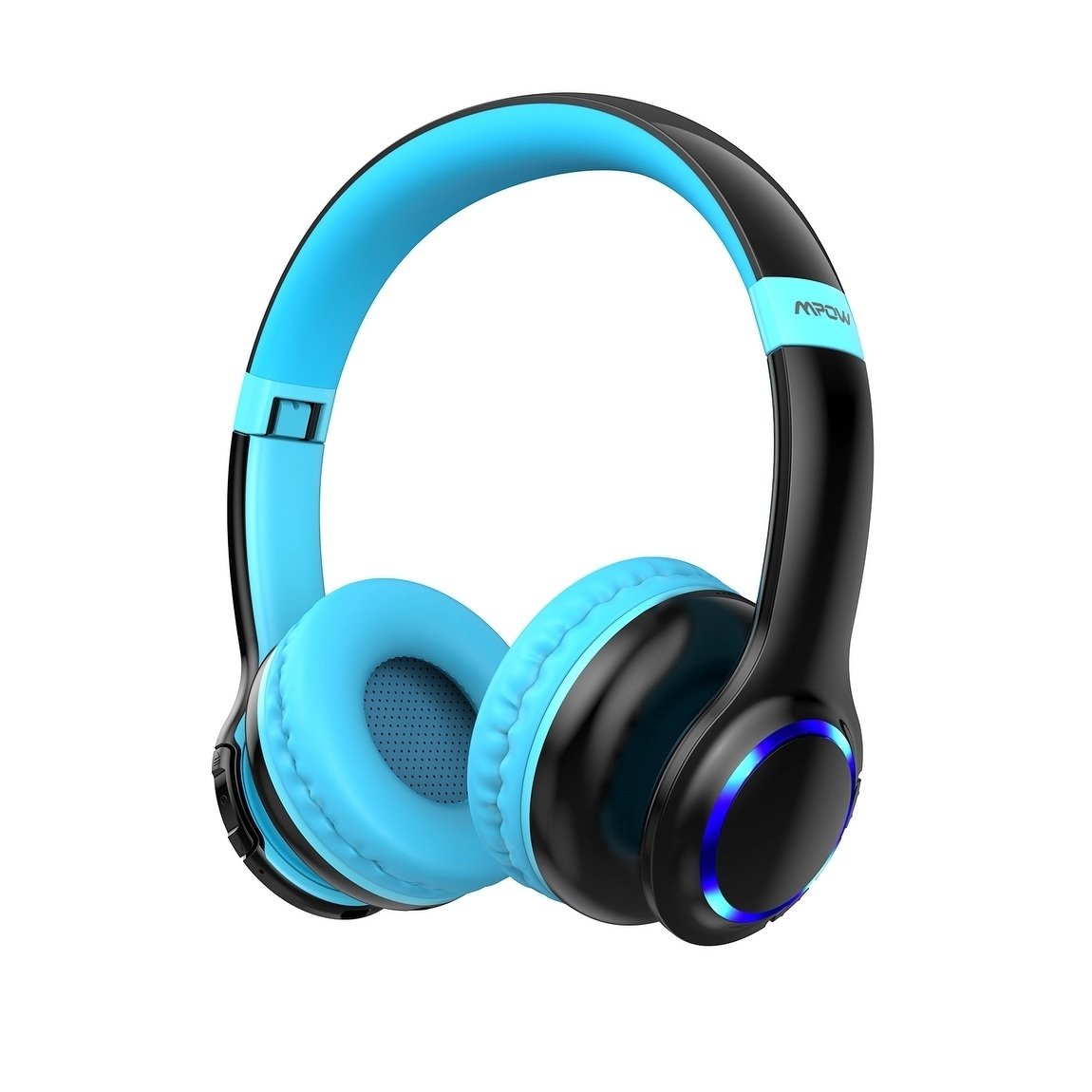 Shop Mpow Ch9 Bluetooth 5 0 Kids Headphones With Led Light On Ear Wireless Headphones Foldable Headset For Children Overstock 29817296