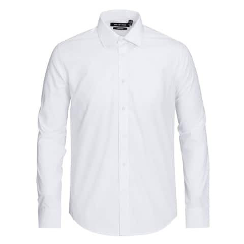 Zenbriele Men's 100% Cotton Classic Fit Easy Care Dress Shirts