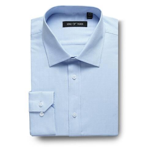 Zenbriele Men's Textured Classic Fit Solid Spread Collar Dress Shirt