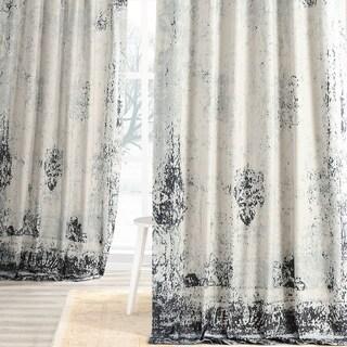 Exclusive Fabrics Bazaar Indigo Digital Printed Cotton Twill Curtain