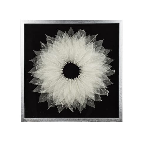 White and Black X-Ray Leaf Detail Wall Art