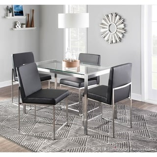 Fuji High Back Stainless Steel Dining Chair - Set of 2 - N/A