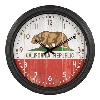 "La Crosse Clock 404-3840CA 15.75"" Indoor/Outdoor California Wall Clock"